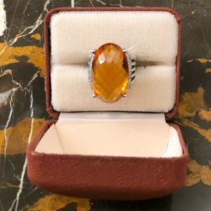 DAVID YURMAN Jewelry - DAVID YURMAN-OVAL CITRINE STERLING W/DIAMONDS RING